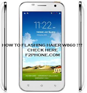 flash update haier w860