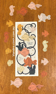 #CTMHVandra, #ctmhthincuts, slimline, fish, cardstock, glitter paper, TicTacToe, Colour dare, #ctmhPumpkinPatch, Big Shot, cardmaking, National Stamping Month, stamping, stamp and thin cut, thinking of you, hugs,