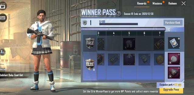 PUBG Mobile Lite Season 19 WP rewards
