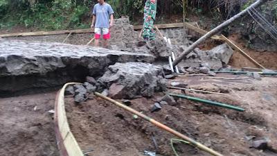 Besarnya Curah Hujan Sehingga Bak Penampungan Jebol