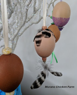 Blown out eggs decorated