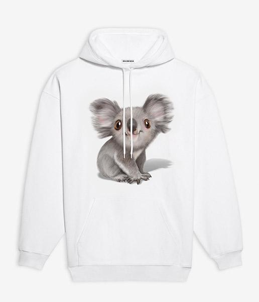 felpa con cappuccio balenciaga koala t-shirt balenciaga koala prezzo t-shirt koala balenciaga mariafelicia magno fashion blogger colorblock by felym