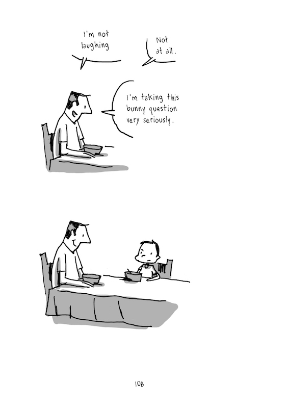 A User's Guide To Neglectful Parenting, By Guy Delisle Translation: Helge Dasher.