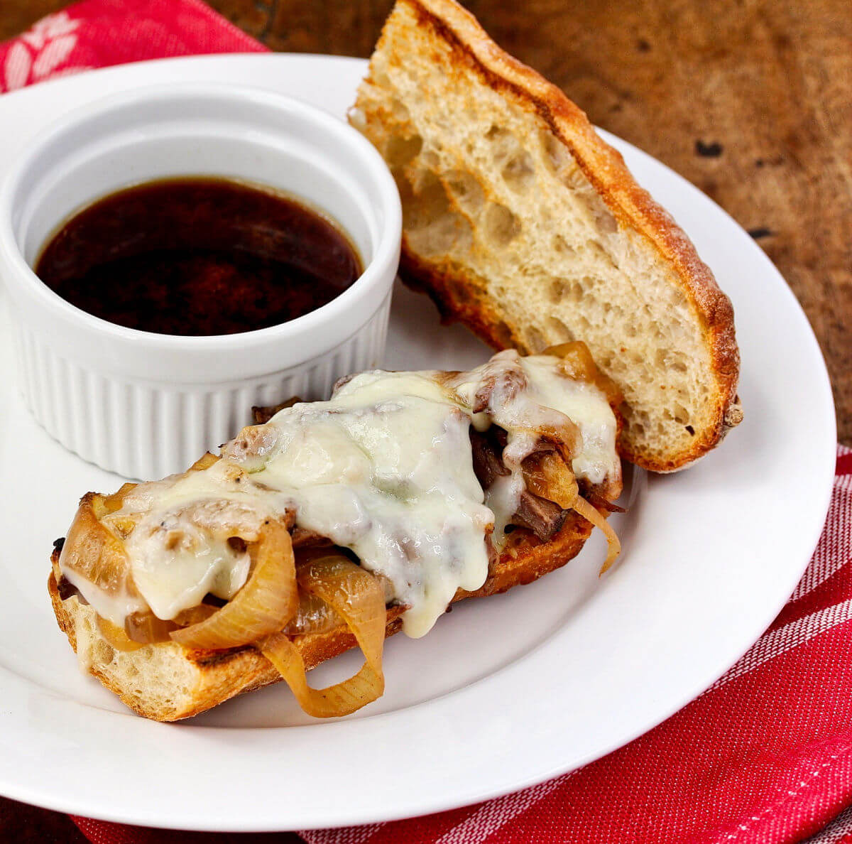 French dip with jus.