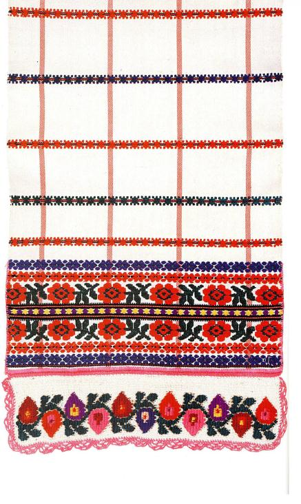 Hand embroidered towel from Belarus