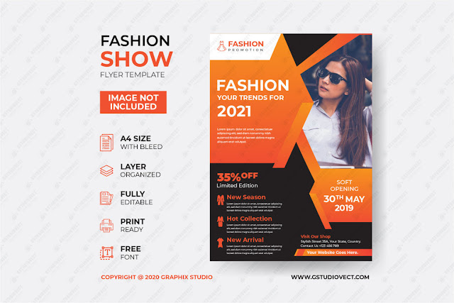 Fashion sale poster template free download