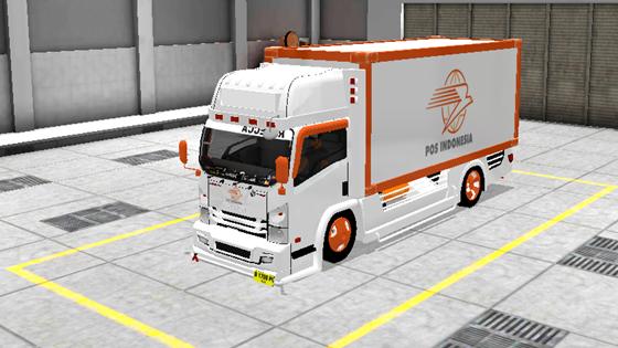 livery mod truck isuzu nmr71 box bussid pos indonesia