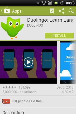 Google Play Store 4.5.10 Duolingo