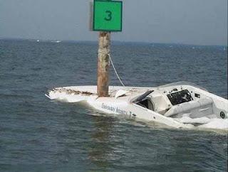 t-boned boat