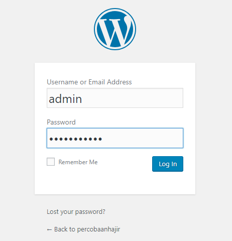 Login wordpress gratisan