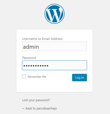 Login wordpress gratisan