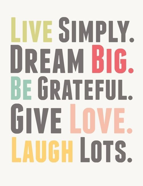 Live Simply.