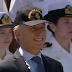 """La Fragata A.R.A, """"Libertad"""" es recibida por el Presidente Macri en el Puerto de Buenos Aires"""