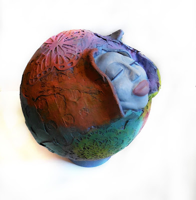 Retreat to your Sacred Space Goddess Art Clay Sculpture
