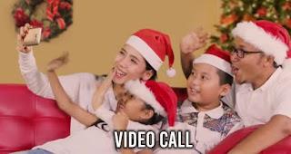 Video Call merupakan salah satu kegiatan saat malam Natal