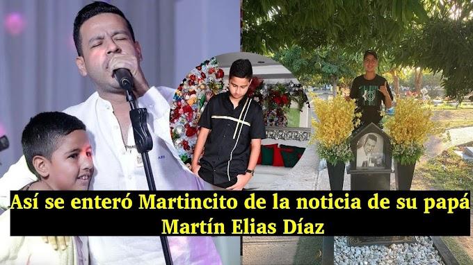 Así se enteró Martincito de la noticia de su papá Martín Elias Díaz