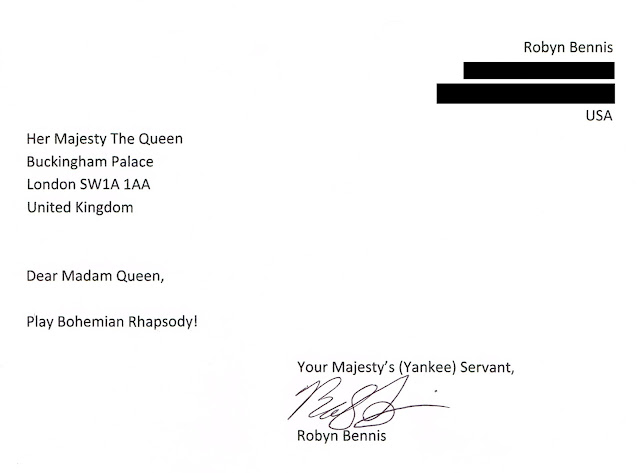 Letter to Queen of England: Bohemian Rhapsody