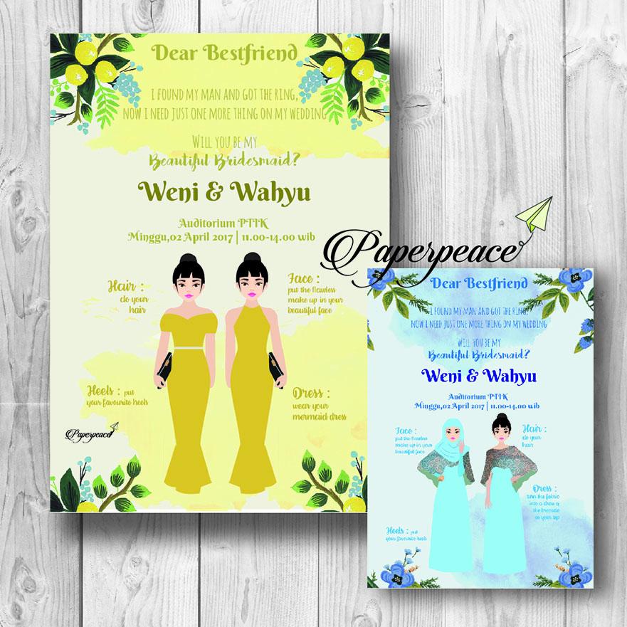 Attire Guide Bridesmaid Card In 1