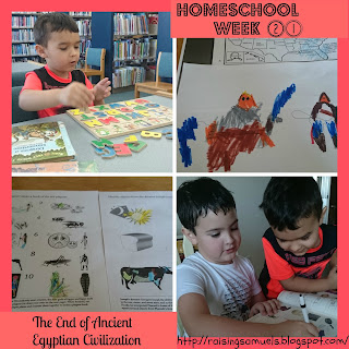 Homeschool Week 21: The End of Ancient Egyptian Civilization