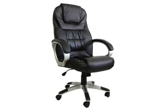 Cadeira Presidente em Couro Pu Pel-c 2652 Preta com Massagem e Aquecimento