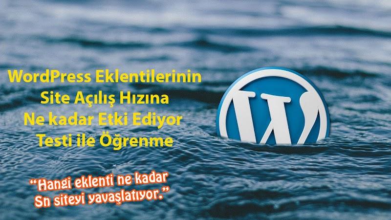 Wordpress Eklentileri Site Açılış Hızını Kaç Saniye Etkiler