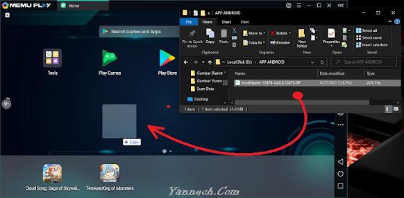 Memindahkan Kinemaster ke Emulator MEmu