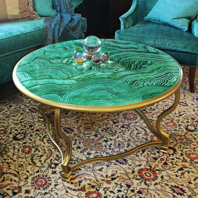 Mark Montano: Faux Malachite Coffee Table