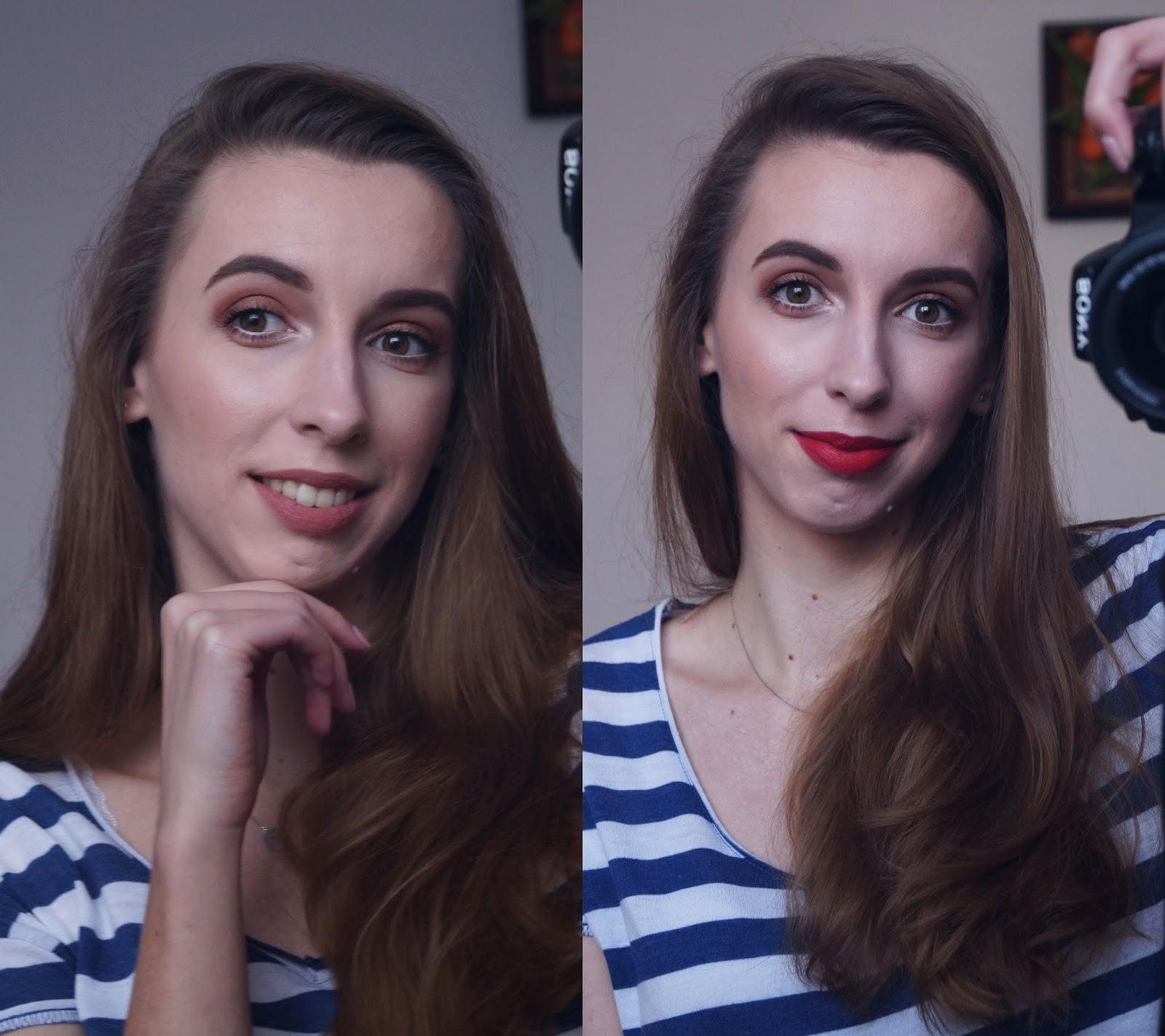 W ciepłych brązach + dwa kolory szminki - praktyka czyni mistrza, czyli ucze się makijażu