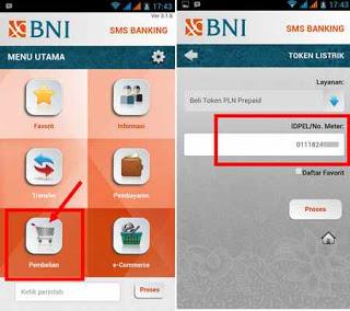 Cara Membeli Token Listrik Melalui Aplikasi SMS Banking BNI