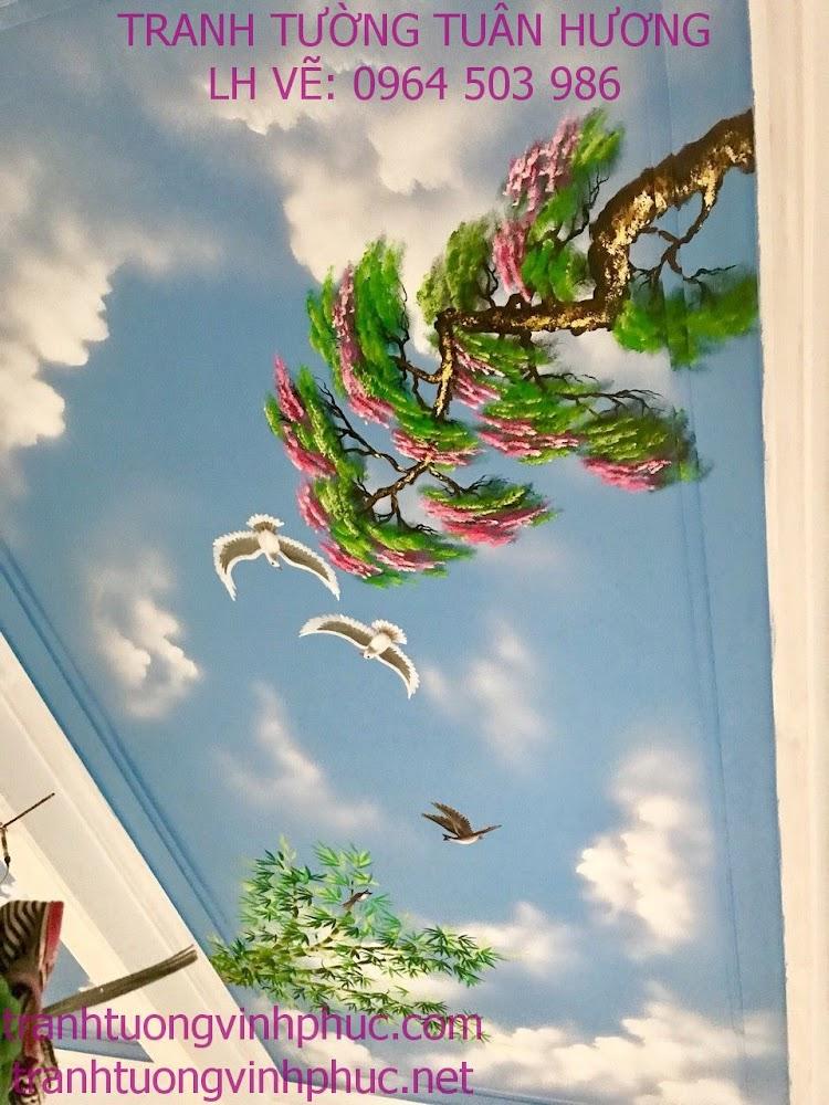 vẽ trần mây rẻ đẹp tại phúc yên
