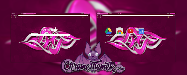 Purple Graffiti Google Theme  | Chrome Web Store