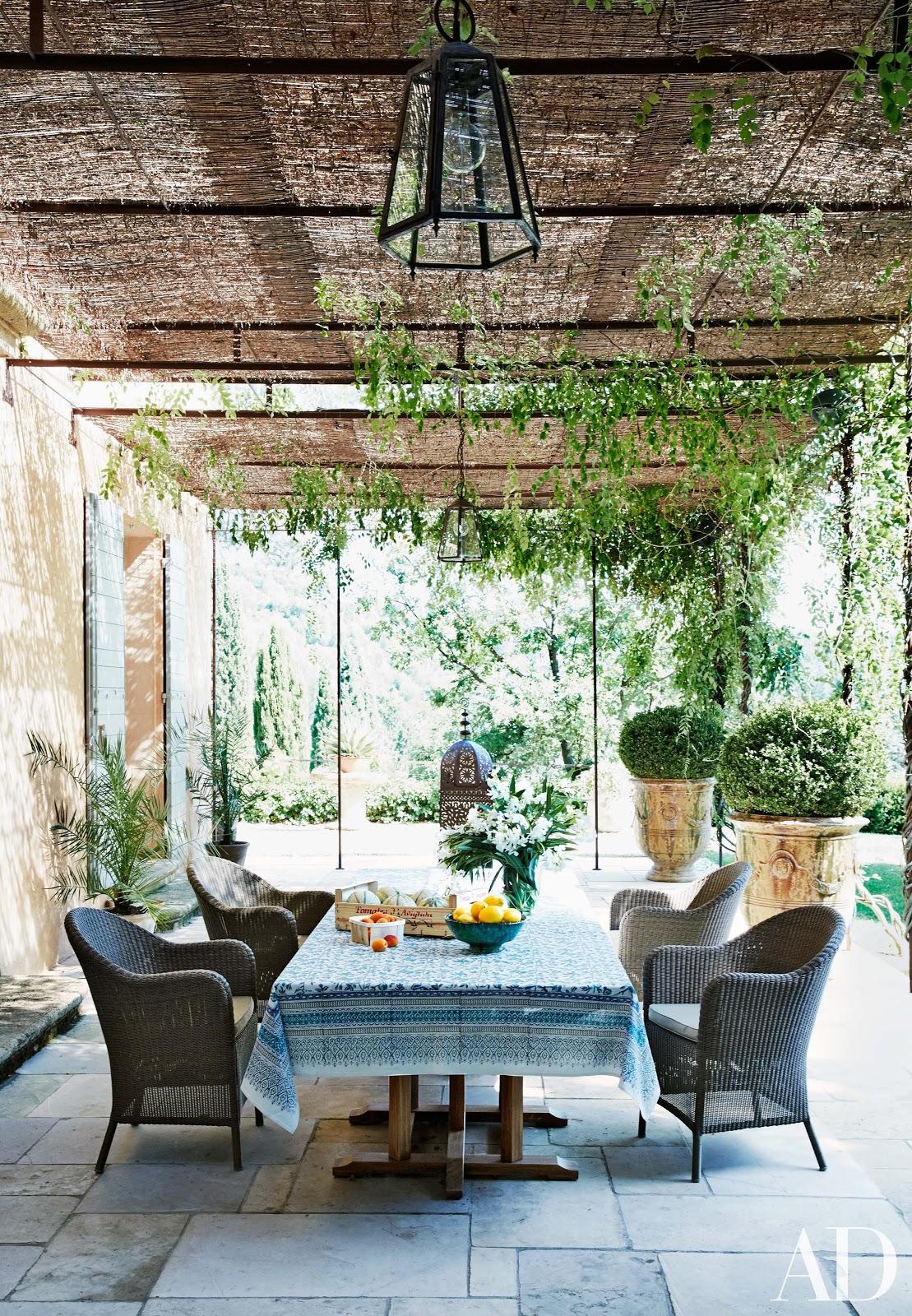 Decor inspiration south of france home fr d ric fekkai for Romantic patio ideas