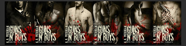 Guns n' Boys Series by K.A. Merikan: Exclusive Guest Post with Giveaway
