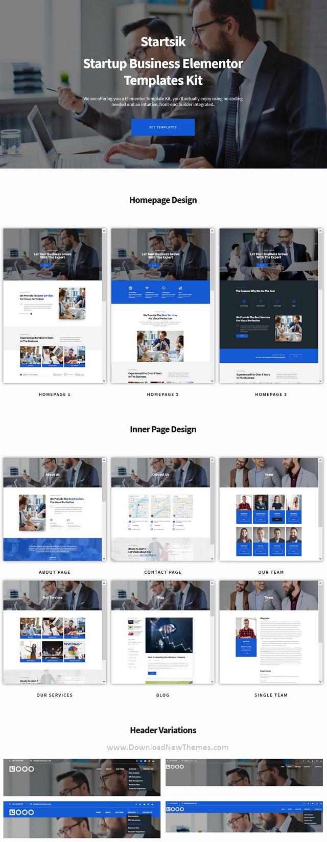 Startup Business Elementor Template Kit