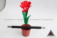 Jual alat sulap wand to flower bulu angsa, botani magic trick