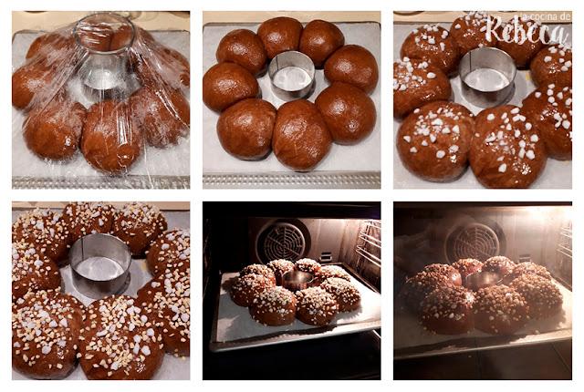Receta de roscón de Reyes de chocolate: decoración y horneado