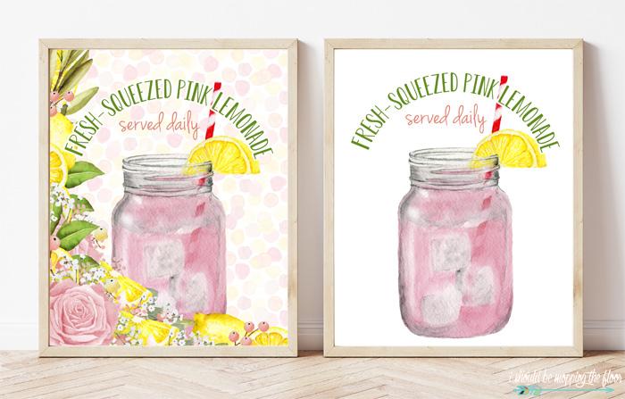 Free Pink Lemonade Printables
