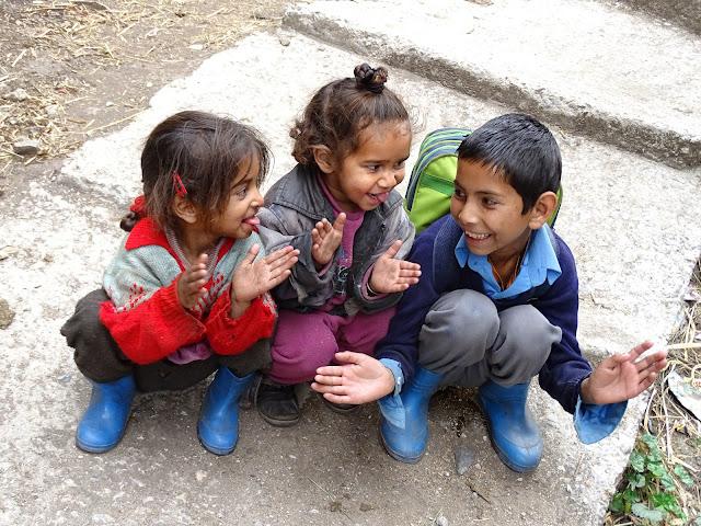 Children Playing at Nakthan Village