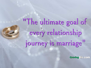 The ultimate goal of every relationship journey is marriage