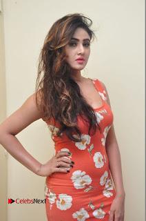 Actress Sony Charishta Latest Stills in Red Floral Short Dress  0115