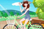 العاب تلبيس فتاة على دراجة