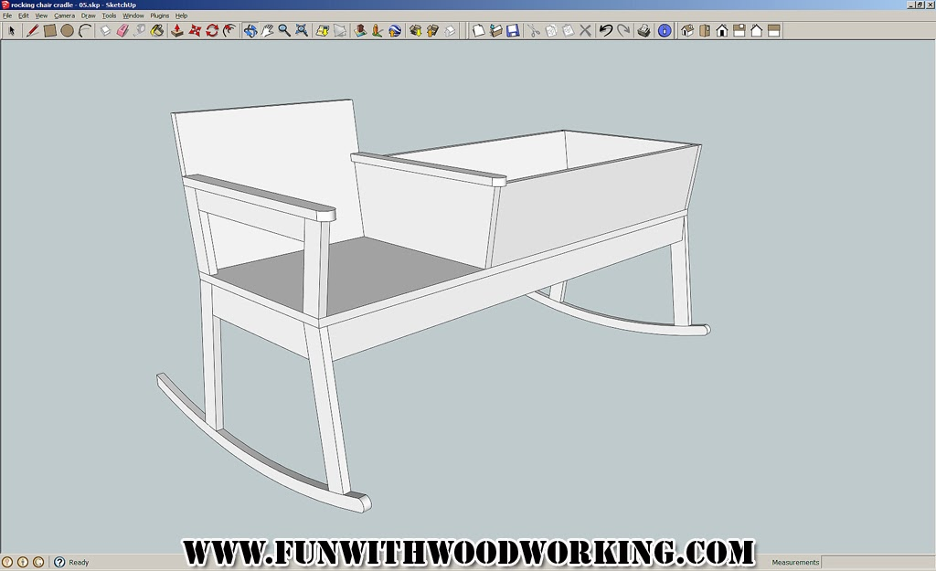 rocking chair cradle with cushions my first sketchup of the fun woodworking