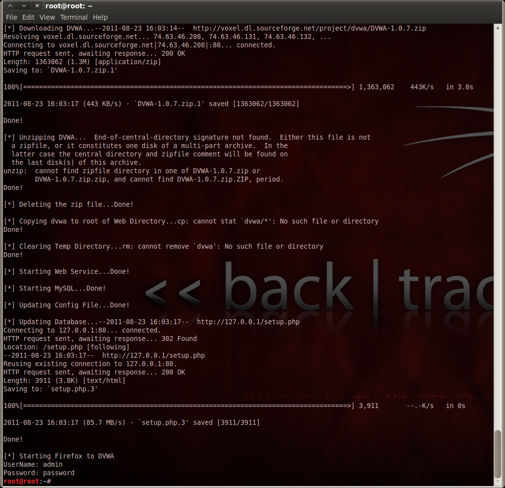 How to Install Damn Vulnerable Web App in Linux Backtrack 5 R1 - The