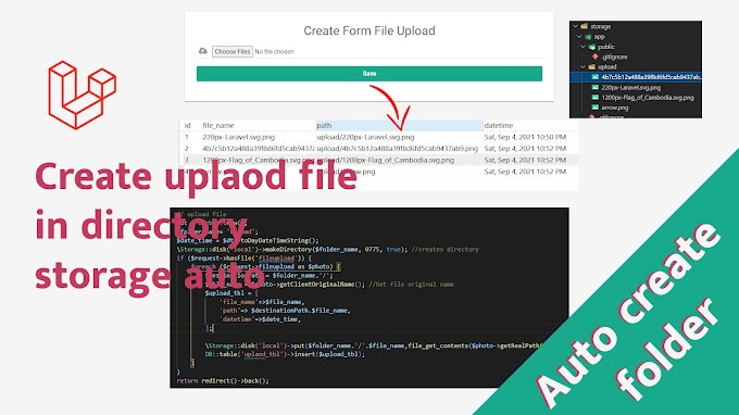 Dynamically create a new folder when uploading file