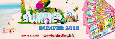 Kerala Lottery Results Today 21.03.2018 Summer Bumper BR-60 Result