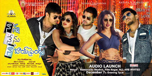Poster Of Naanna Nenu Naa Boyfriends In Dual Audio Hindi Telugu 300MB Compressed Small Size Pc Movie Free Download Only At worldfree4u.com