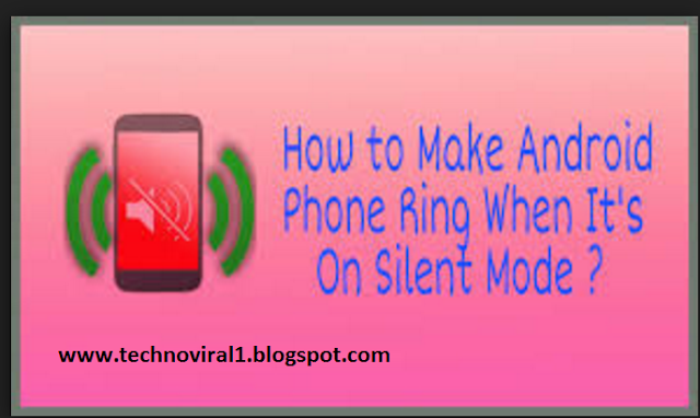 How to Ring your silent Android just receive on a MSG