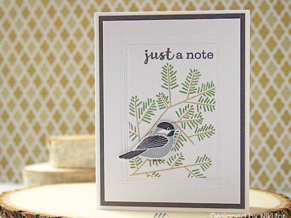 A Simple Card With Basis Cardstock