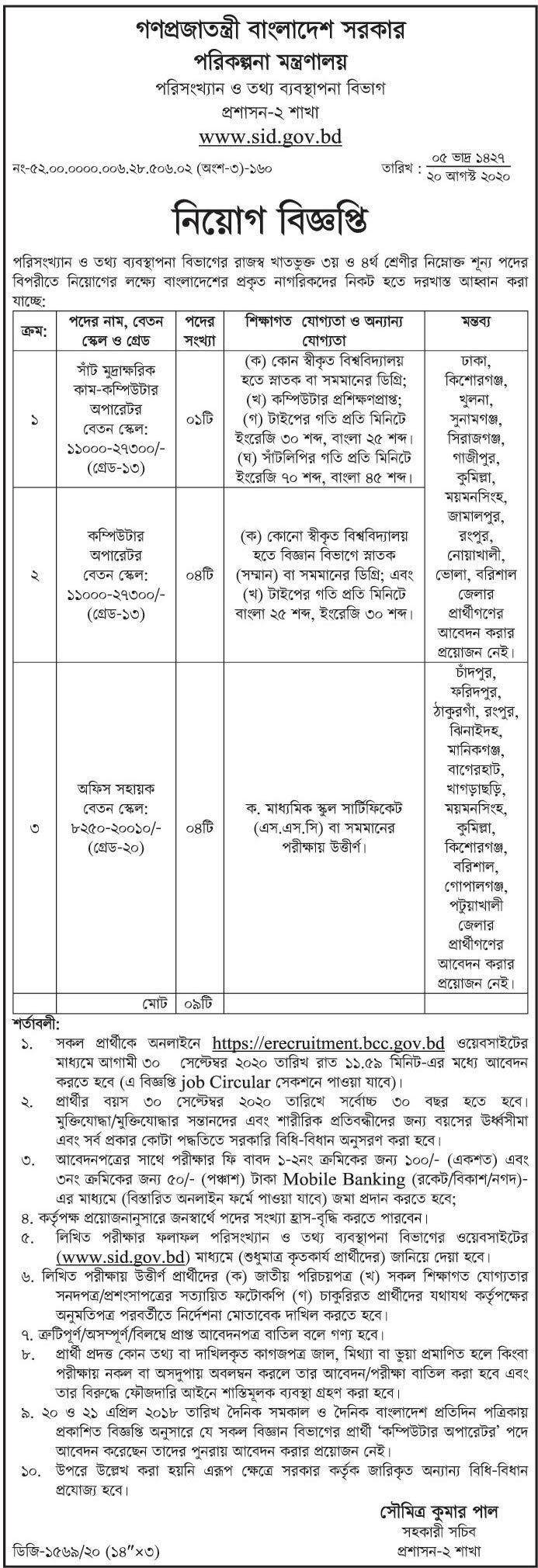 Ministry-Of-Planning-Job-Circular-2020-newsletter69.com