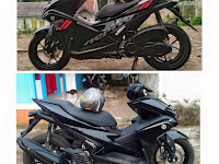 Yamaha Aerox 155 Full Black Color, Seksiii !